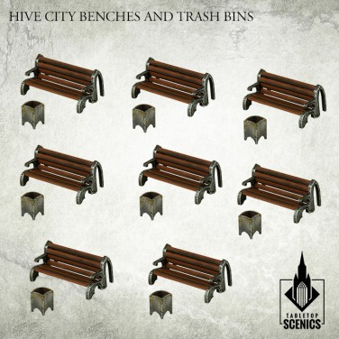 New release! Hive City Benches & Trash Bins